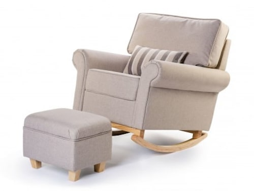 ush Hush Rocking Nursing Glider Chair