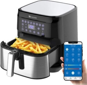 Proscenic T21 Air Fryer Oil Free with APP  5.5L/1700W XL Chip Fryer Oven with Digital Display  Alexa & Google Home Voice Control  Preheat  Shake Reminder  8 Cooking Preset  Preheat  Timer  Recipe Book [Energy Class A+++]
