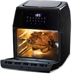 Daewoo 12L Rotisserie Air Fryer Oven with Rapid Air Circulation and Large Window with Interior Light and  80-200°C Thermostat Control