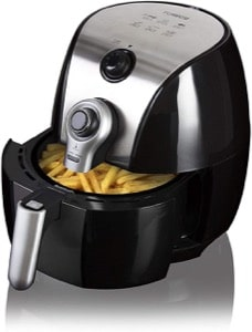 Tower T17022 Air Fryer with 30 Minute Manual Timer  1500 W  4.3 Litre  Black